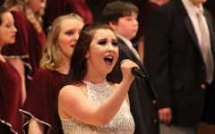 Senior Bailey Peabody performs a solo